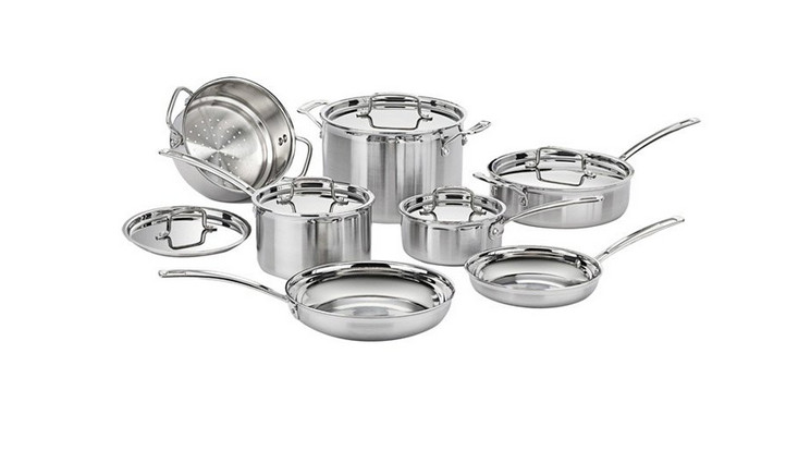 17 piece cookware set Cuisinart Multiclad Pro stainless steel