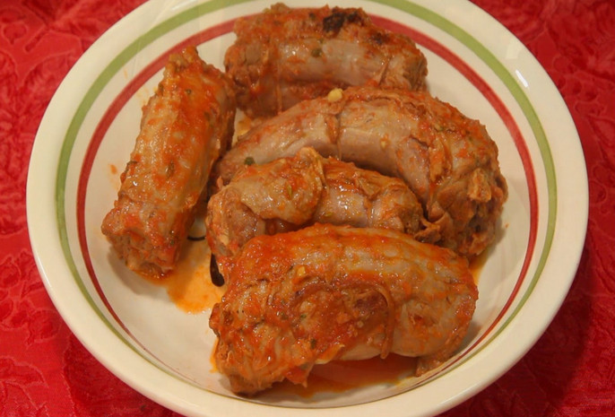 Boiled Turkey Necks recipe