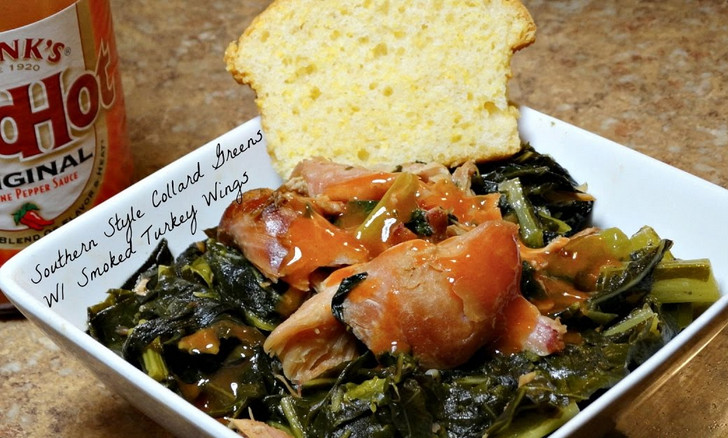 Soul food Collard Greens with smoked turkey recipe
