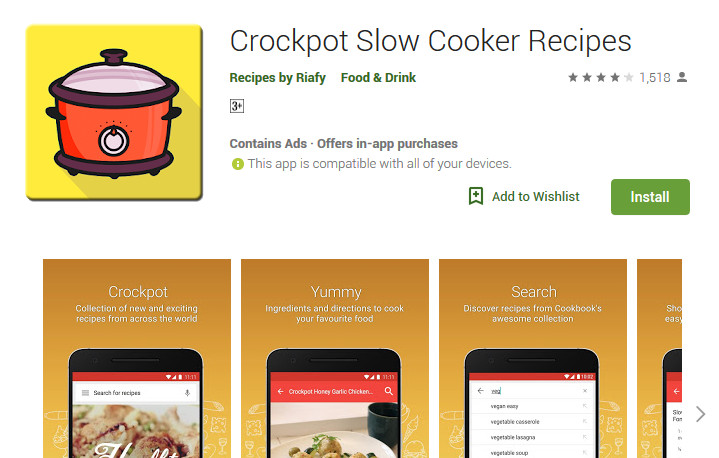 Crock pot recipe app review for android platform tourn cooking crock pot recipe app forumfinder Gallery
