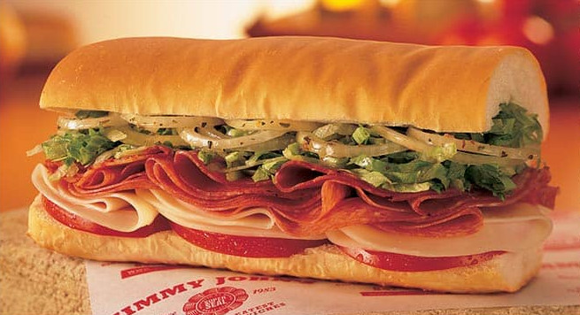 Jimmy John's 16 Club Lulu Sandwich