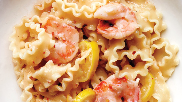 Mafaldine Pasta Recipes with Lemon and Shrimp