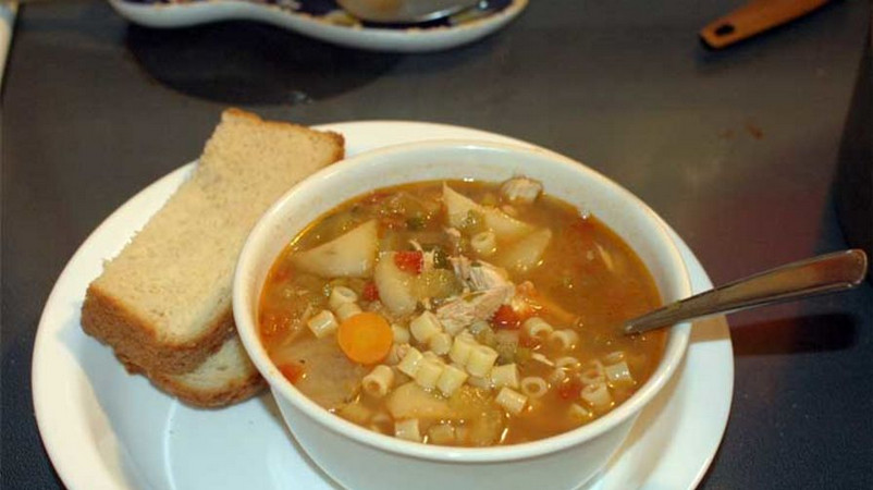 Spicy Carrabba's Chicken Soup Recipe with Pasta