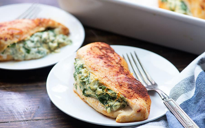 Stuffed Chicken Breast Recipes with Spinach for a Quickie Healthy Meal