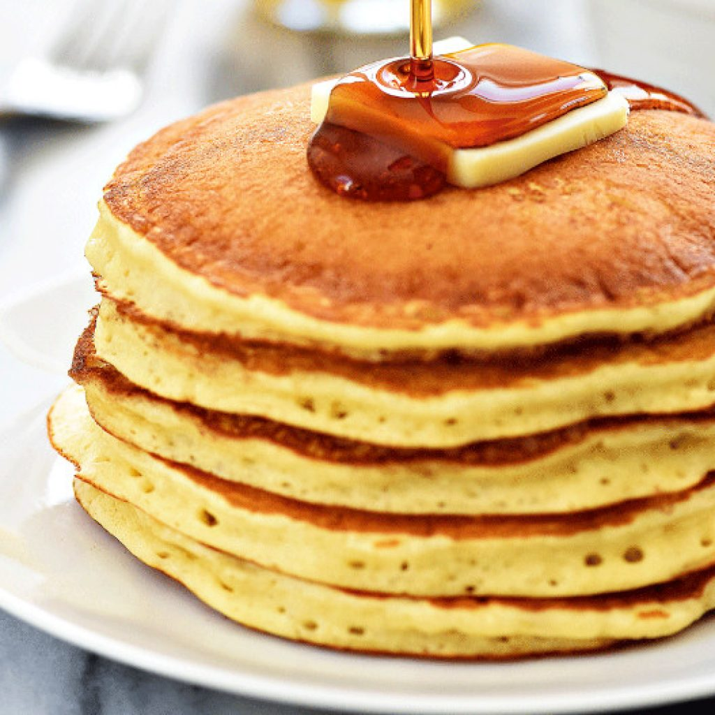 Use Milk-Vinegar as Replacement in IHOP Pancake Recipe without Buttermilk