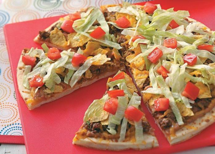 Caseys taco pizza