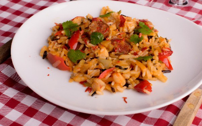 Colleens slow cooker jambalaya