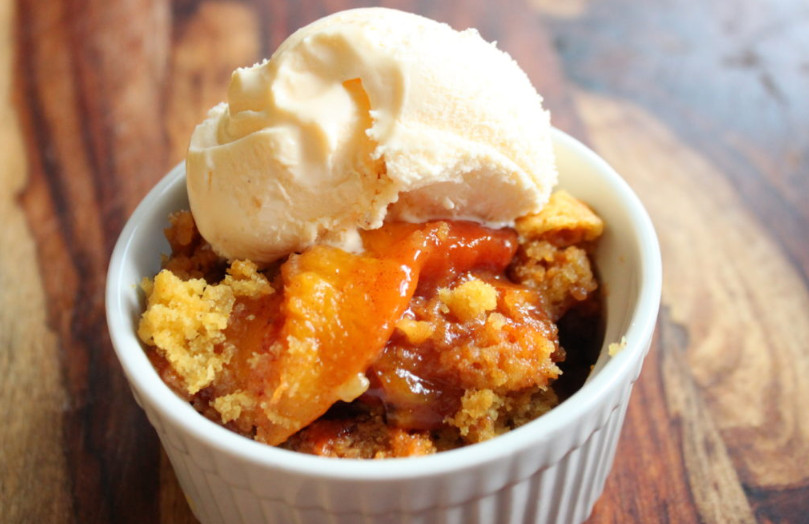 Crockpot peach cobbler cake mix recipe