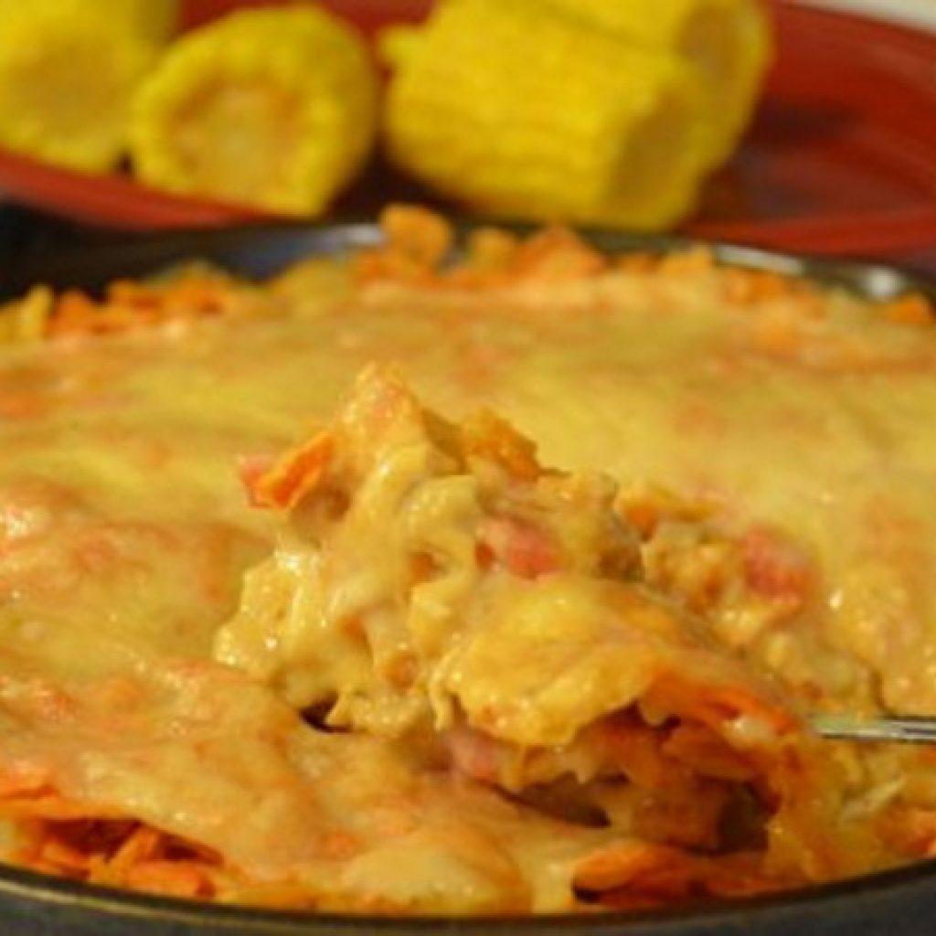 Dorito casserole with Rotel
