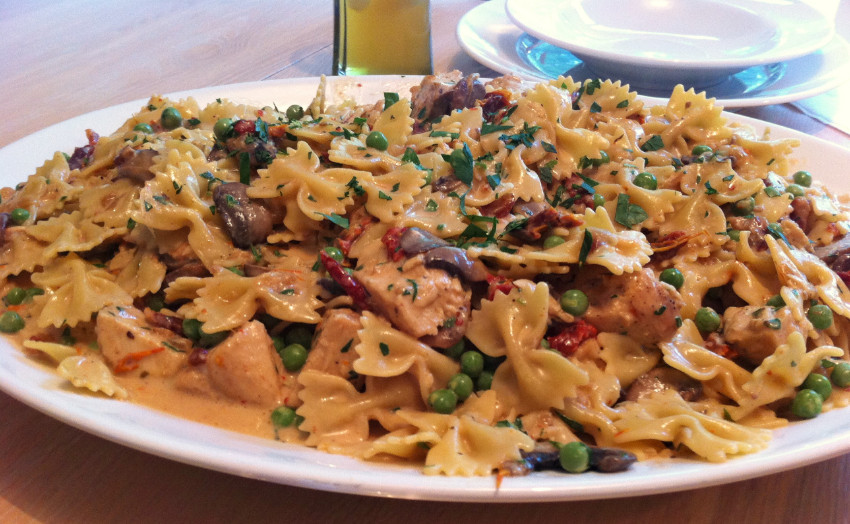 Farfalle with Chicken and Roasted Garlic Cheesecake Factory for Affordable Fancy Dinner at Home