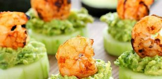 Hor Dourves (Hors D'oeuvres) Recipes with Shrimp, Avocado, and Cucumber