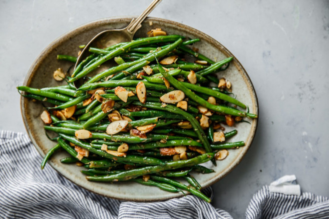 Tasty and Savory String Beans Almondine as Veggie Side-Dish Choice