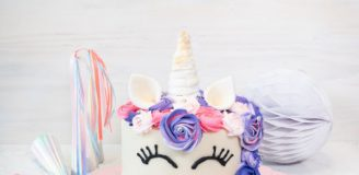Baskin Robbins Unicorn Cake Basic Simple Recipe with Decoration Tutorial