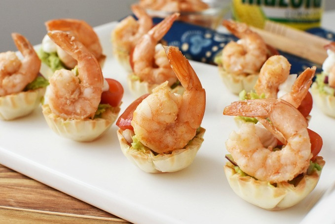 Shrimp Guacamole Cups