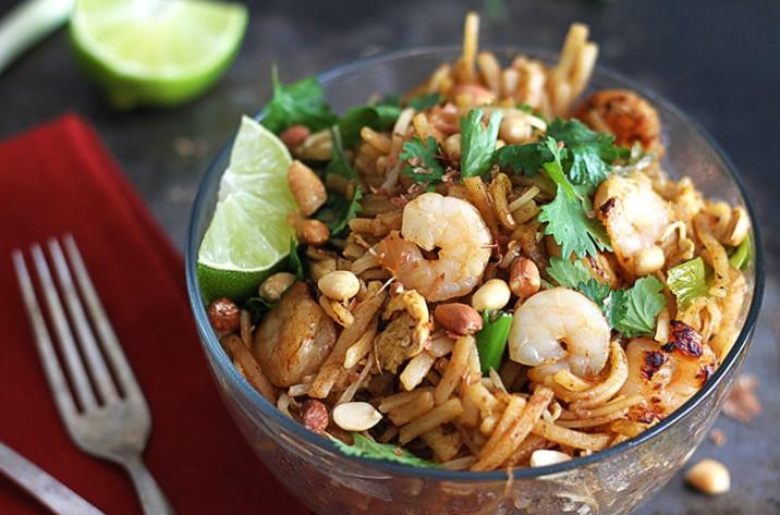 Ethnic Gourmet Bowl Pad Thai with Shrimp
