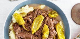 Crock Pot Roast with Pepperoncini and Ranch Dressing Recipe